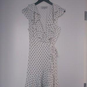 Wayf Star Print Wrap Dress
